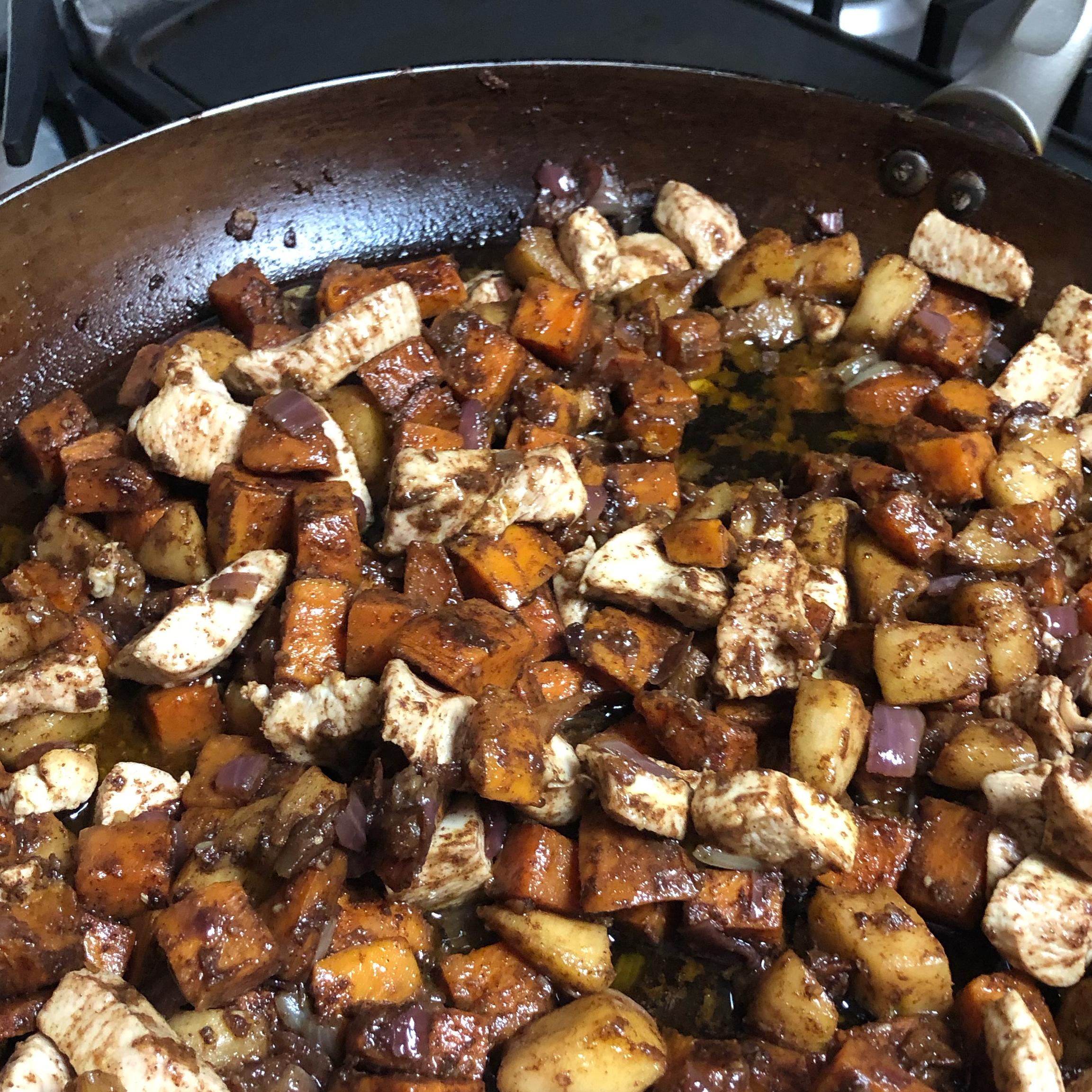 Paleo Chicken with Apple and Sweet Potato momofjna