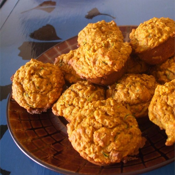 healthy pumpkin zucchini muffins photos