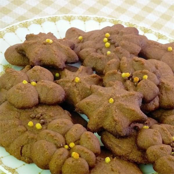 chocolate spritz cookie press photos