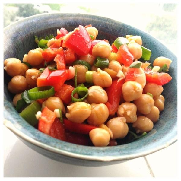 cumin and coriander chickpea salad photos