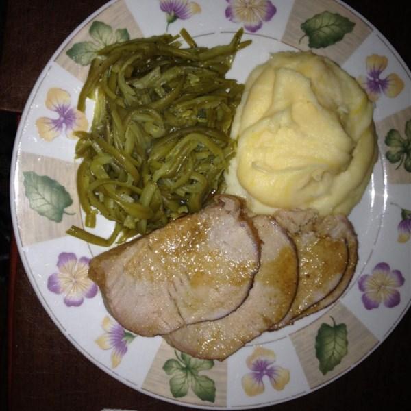 roast pork with maple and mustard glaze photos