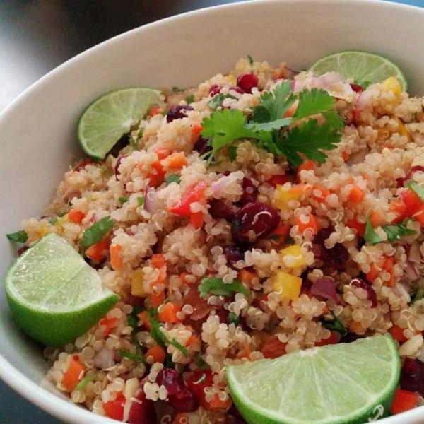 cranberry and cilantro quinoa salad photos