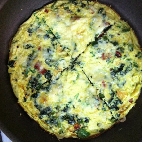 frittata with leftover greens photos