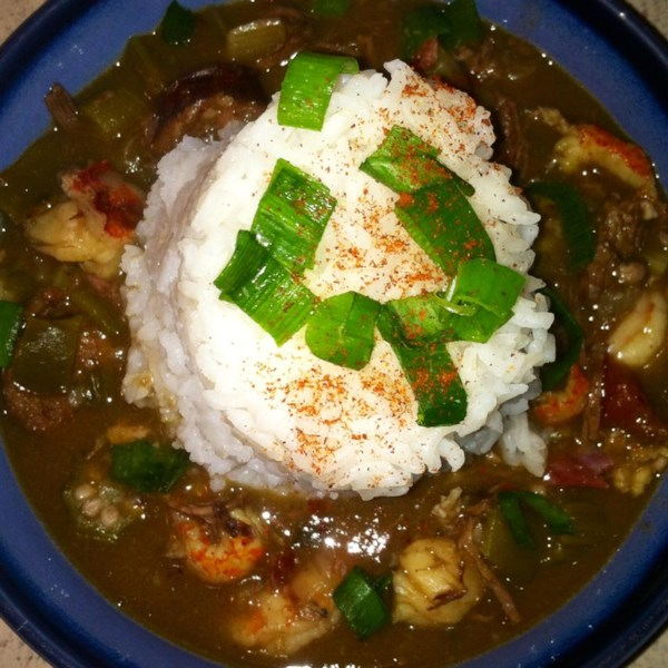 chef johns duck sausage and shrimp gumbo photos