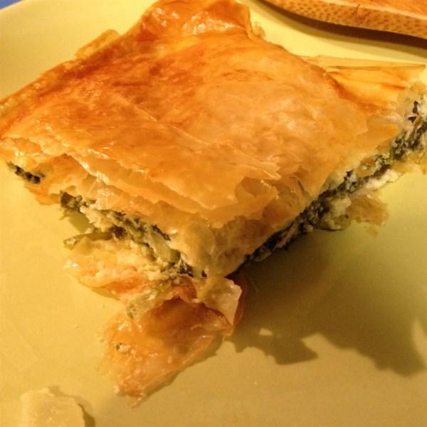spanakopita greek spinach pie photos