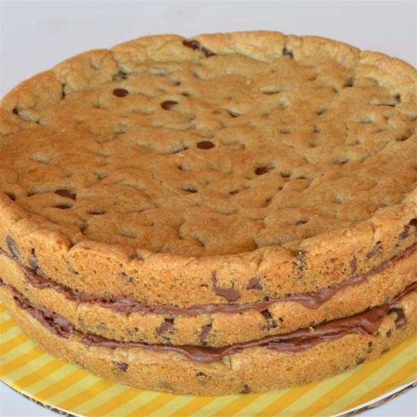 chocolate chip cookie layer cake photos