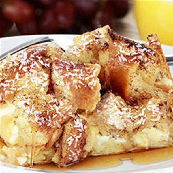 coconut bread pudding from silk r photos