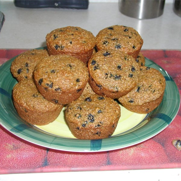 low fat blueberry bran muffins photos