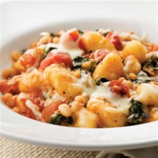 skillet gnocchi with chard white beans photos