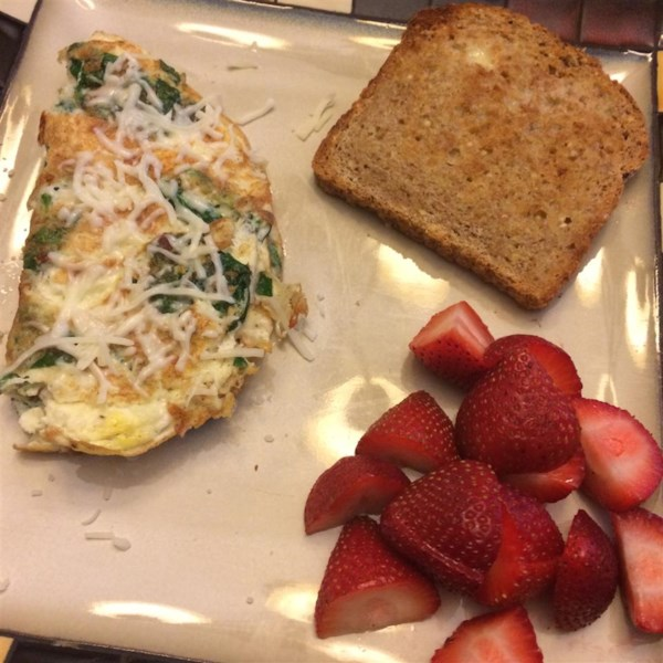baby spinach omelet photos