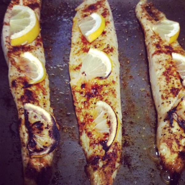 broiled spanish mackerel photos