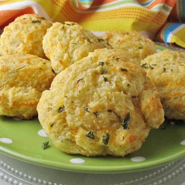 garlic herb butter drop biscuits photos