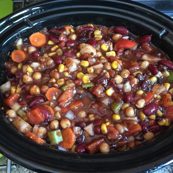 slow cooker vegetarian recipes s cooker vegetarian chili photos allrecipes 11297