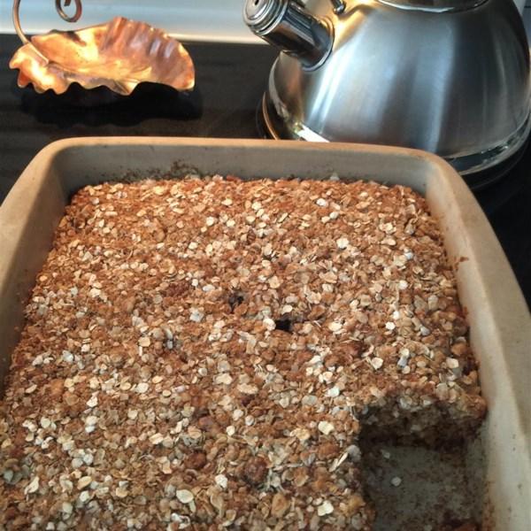 banana oatmeal crumb cake photos