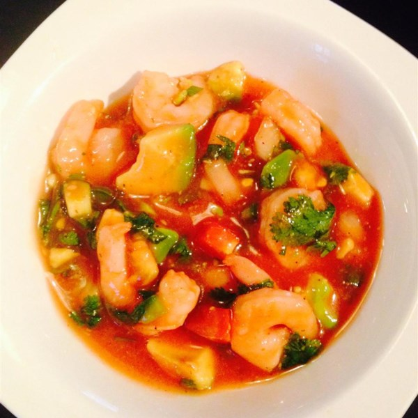 Authentic Mexican Shrimp Cocktail Coctel De Camarones Estilo Mexicano Photos Allrecipes Com