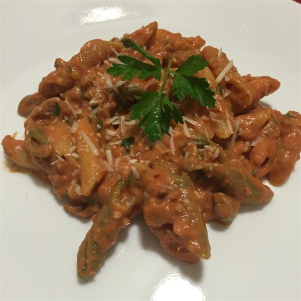 penne with spicy vodka tomato cream sauce photos