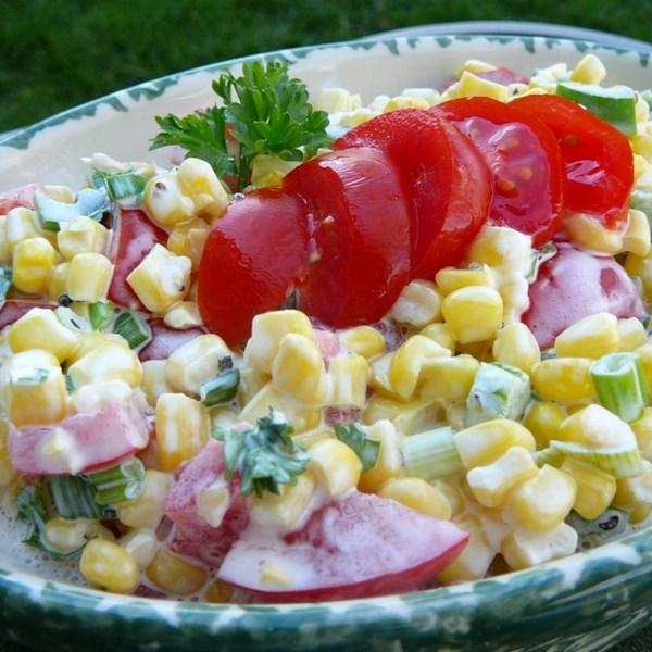 shoepeg corn salad photos