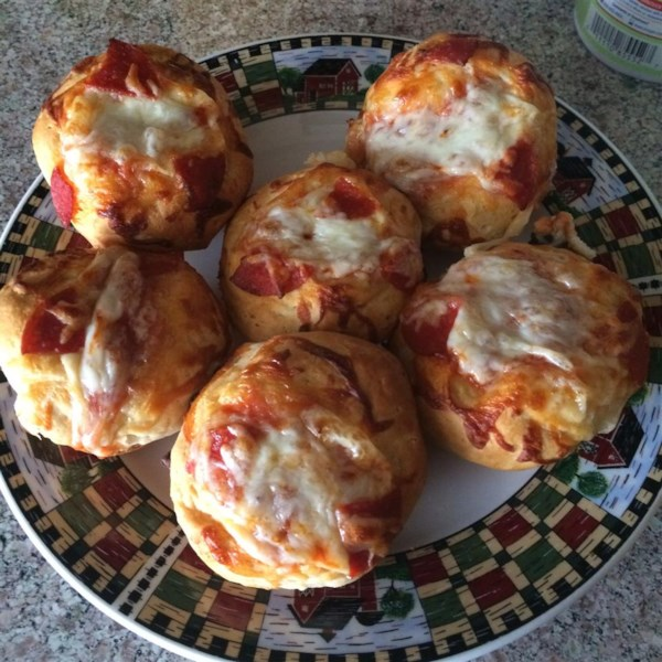 easy pepperoni pizza muffins photos