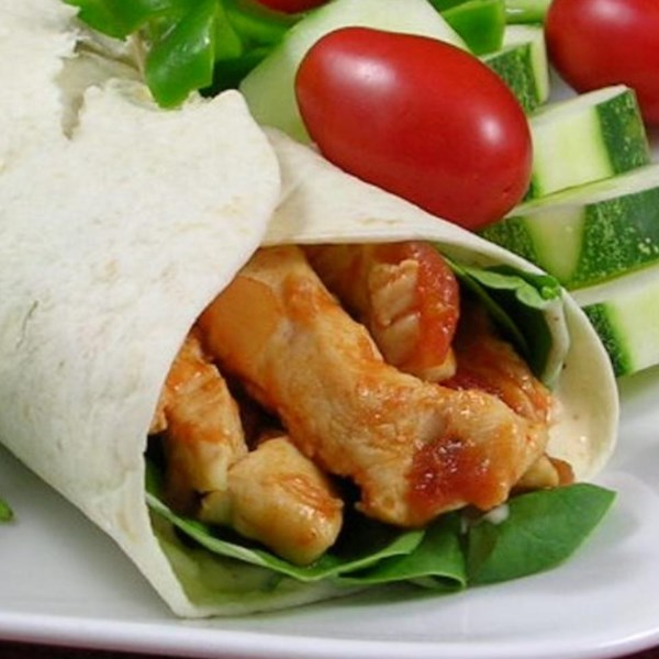 simple sweet and spicy chicken wraps photos