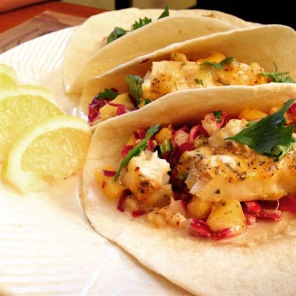 easy fish tacos with mango pineapple slaw photos