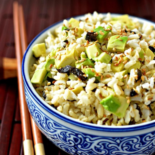 easy wakame brown rice photos
