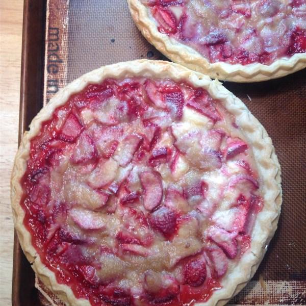 chef neals strawberry rhubarb sour cream pies photos