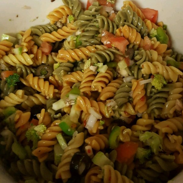 rainbow rotini salad photos