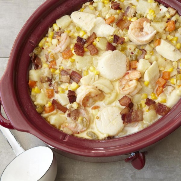 slow cooker fish chowder photos
