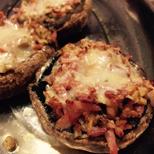 bacon and cheddar stuffed mushrooms photos