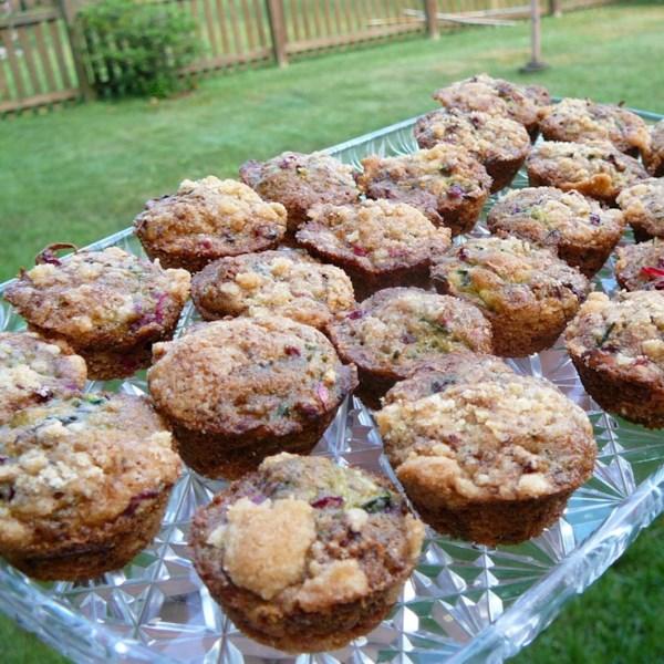 farm fresh zucchini cranberry nut muffins photos