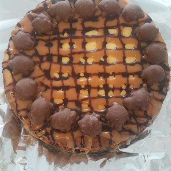 brownie caramel cheesecake photos