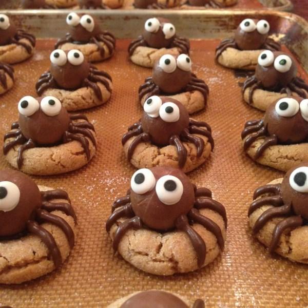 peanut butter spider cookies photos