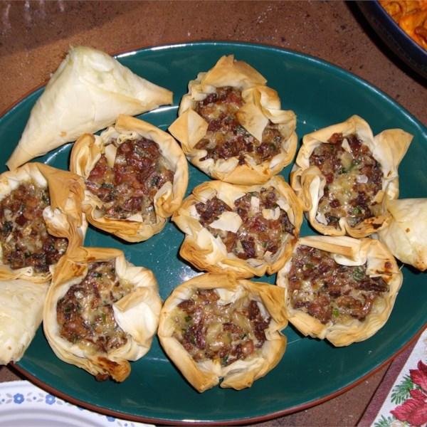 chanterelle mushroom and bacon tartlets photos