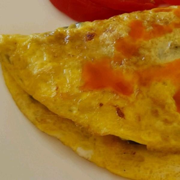 spinach mushroom omelet photos