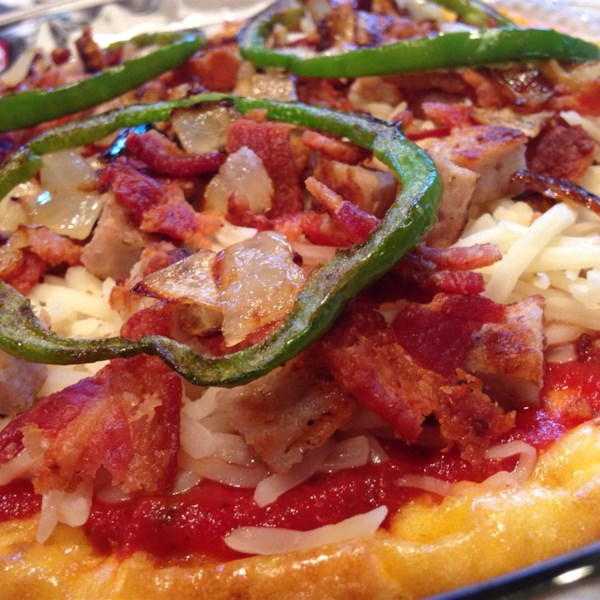 low carb deep dish breakfast pizza photos