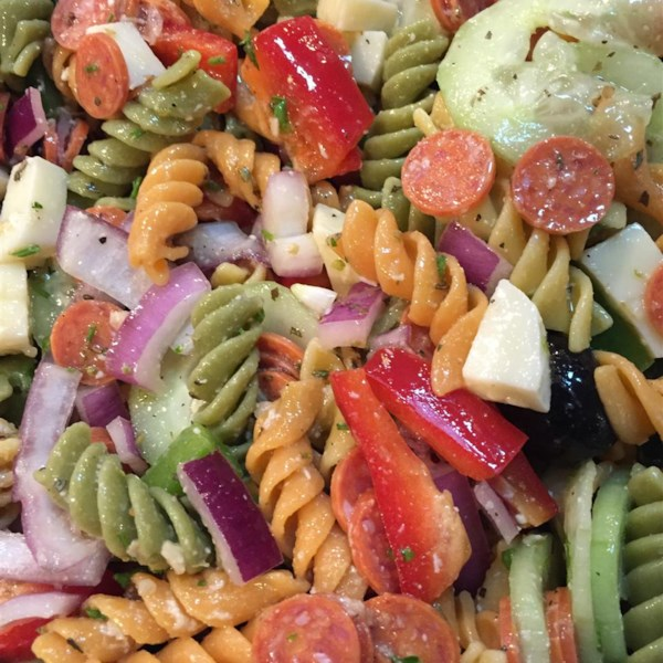 pasta salad with homemade dressing photos