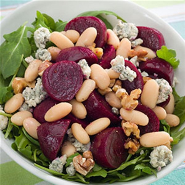 beet white bean salad photos