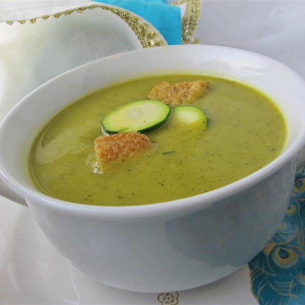 curried zucchini soup photos