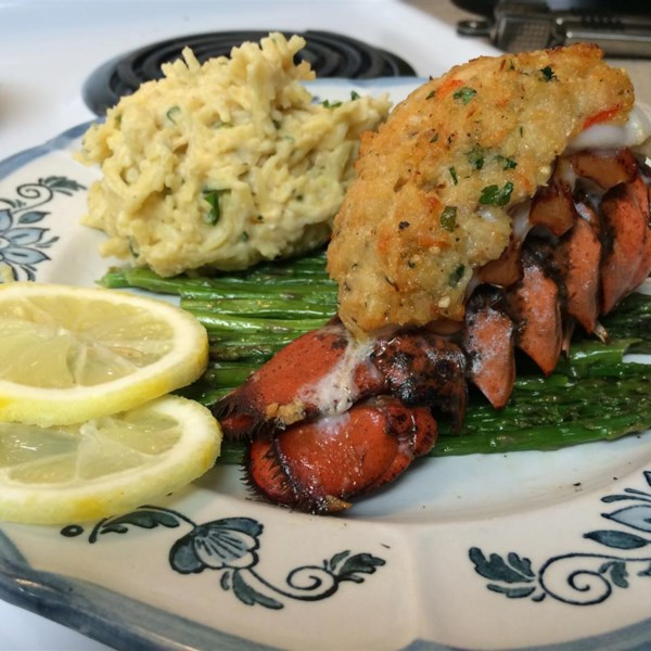 crab stuffed lobster tail photos