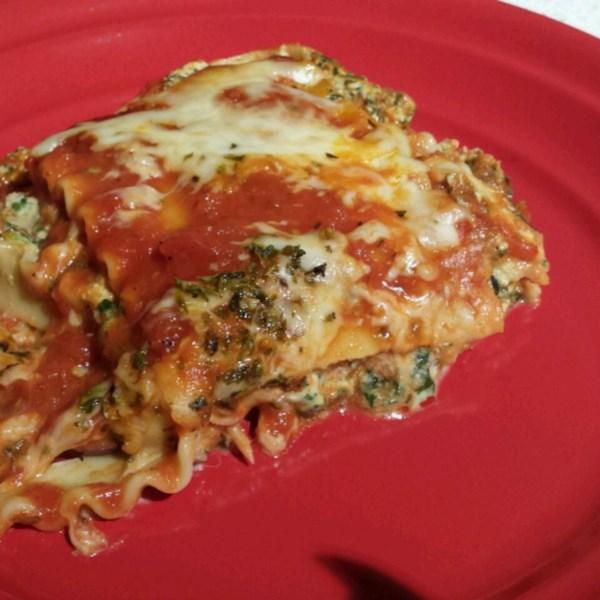 easy vegetarian spinach lasagna photos