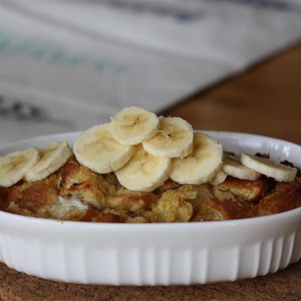banana cinnamon roll casserole photos