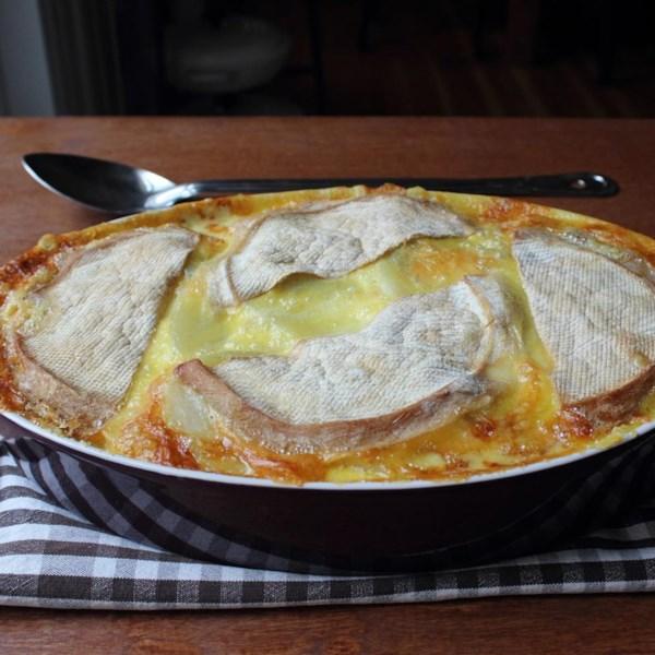 tartiflette french potato bacon and cheese casserole photos