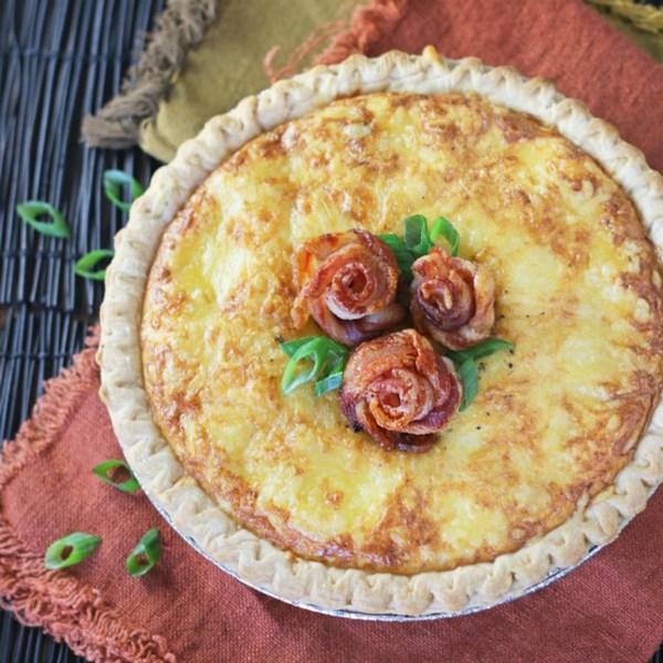 bacon rose quiche photos
