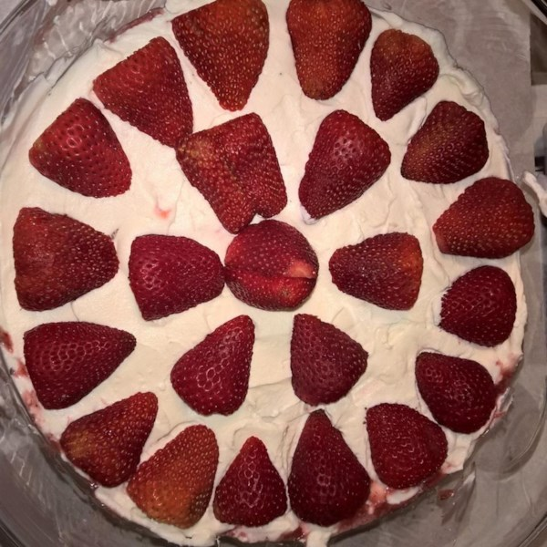 strawberry shortcake with cheesecake whipped cream photos