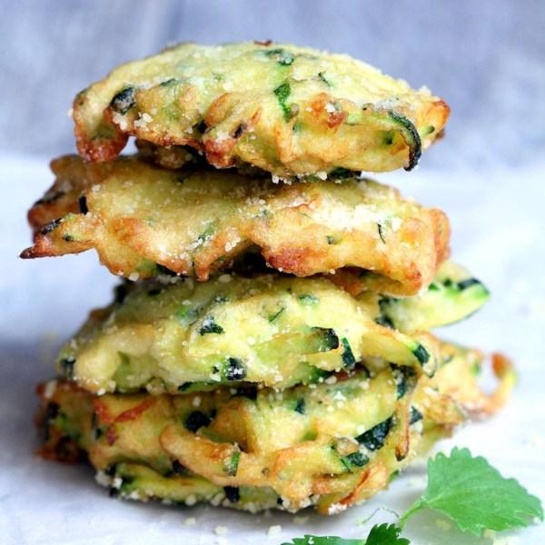 zucchini parmesan cheese fritters photos
