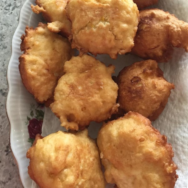 corn fritters with maple syrup photos