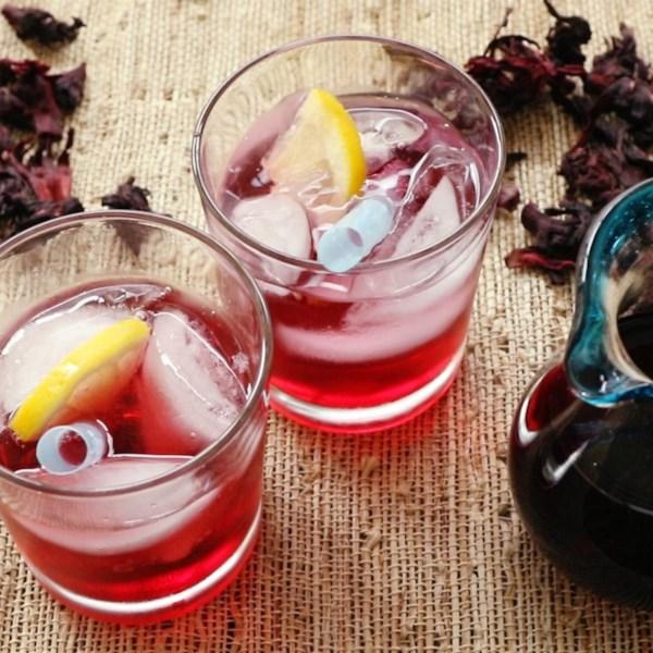 hibiscus syrup photos