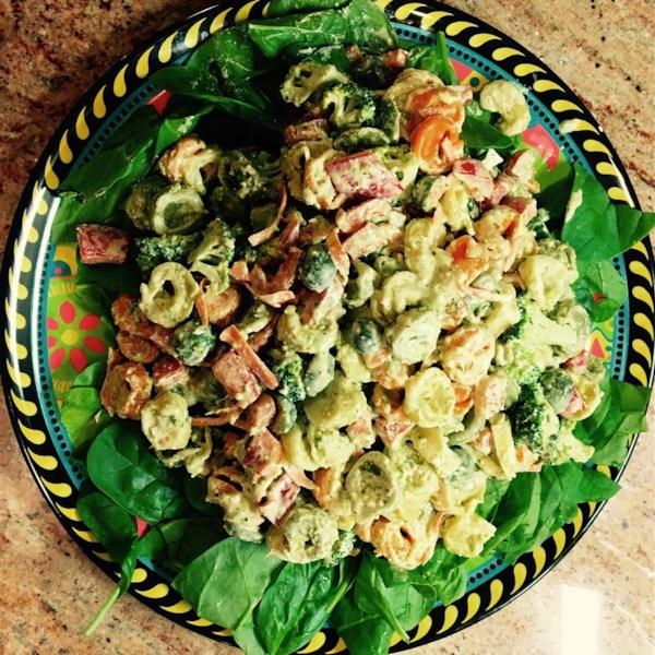 tortellini pesto salad photos