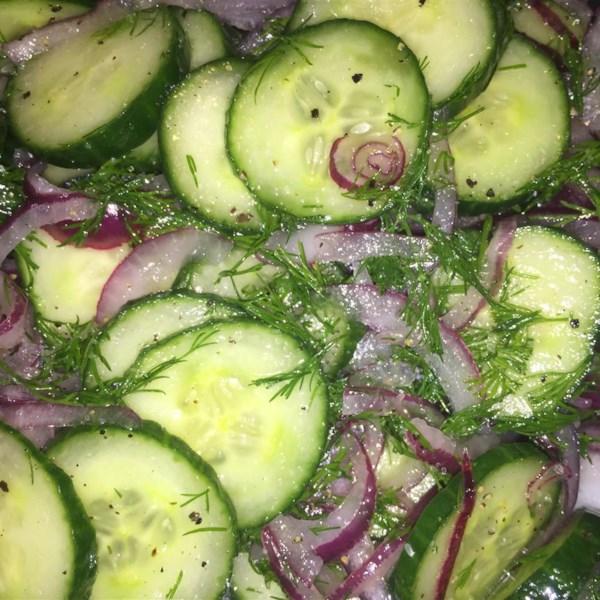 hungarian cucumber salad photos