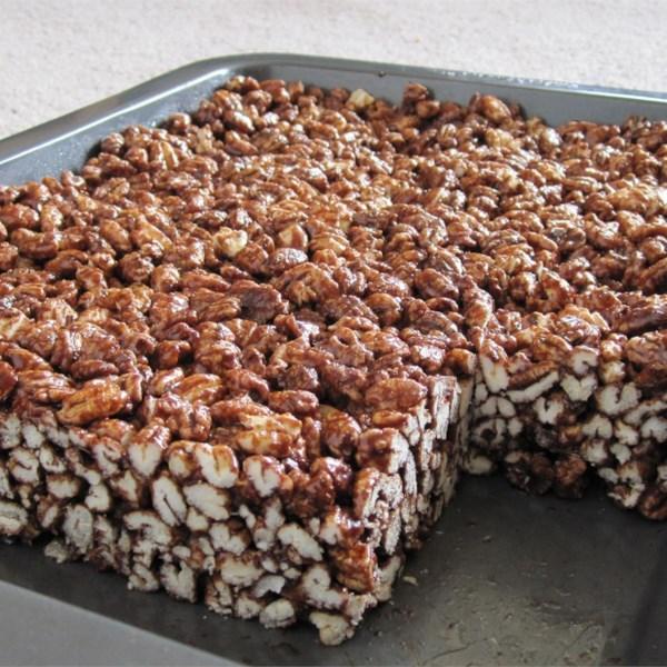 chocolate puffed wheat squares photos